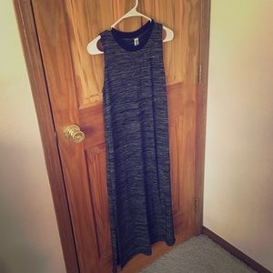 Maxi side slit tank dress